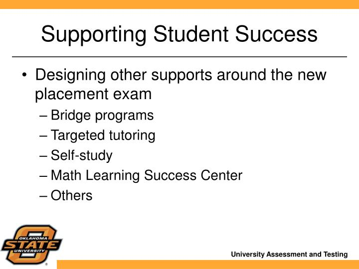 Supporting Student Success