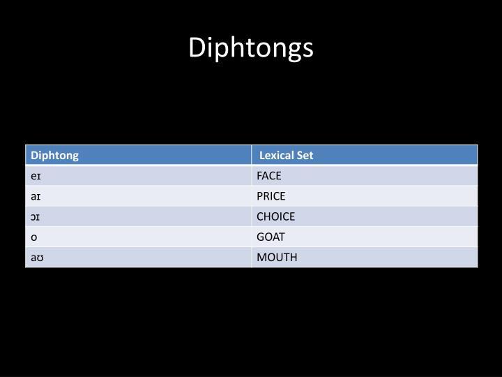 Diphtongs