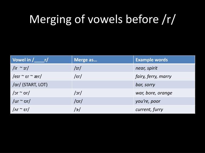 Merging of vowels before /r/
