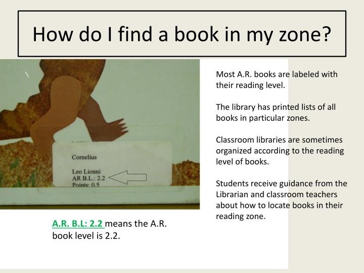 How do I find a book in my zone?