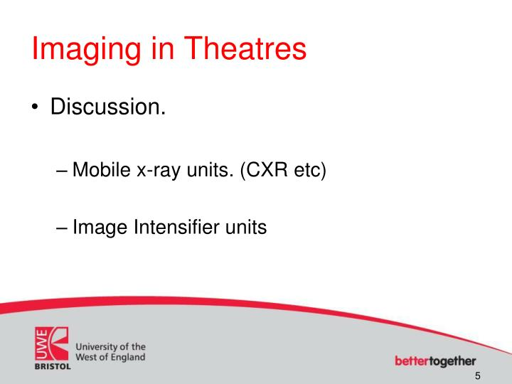 Imaging in Theatres