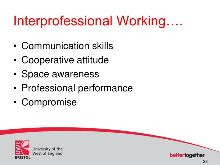 Interprofessional Working….