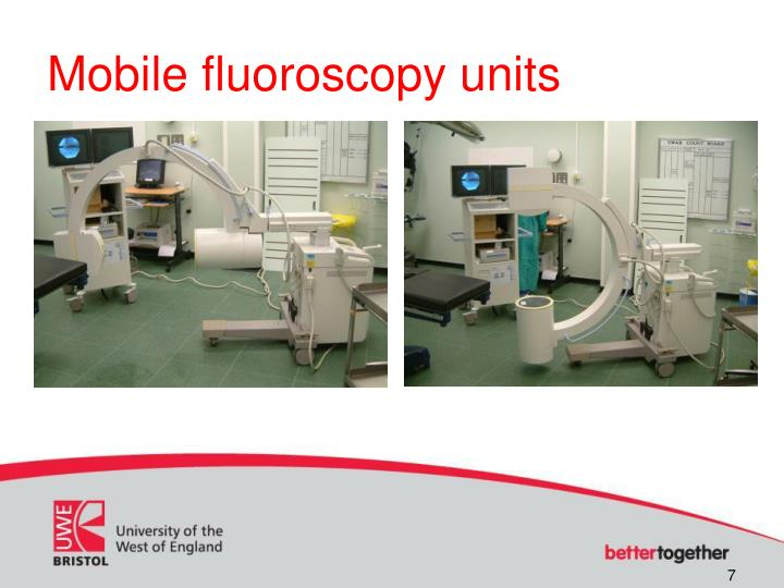 Mobile fluoroscopy units