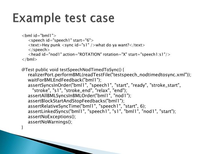 Example test case