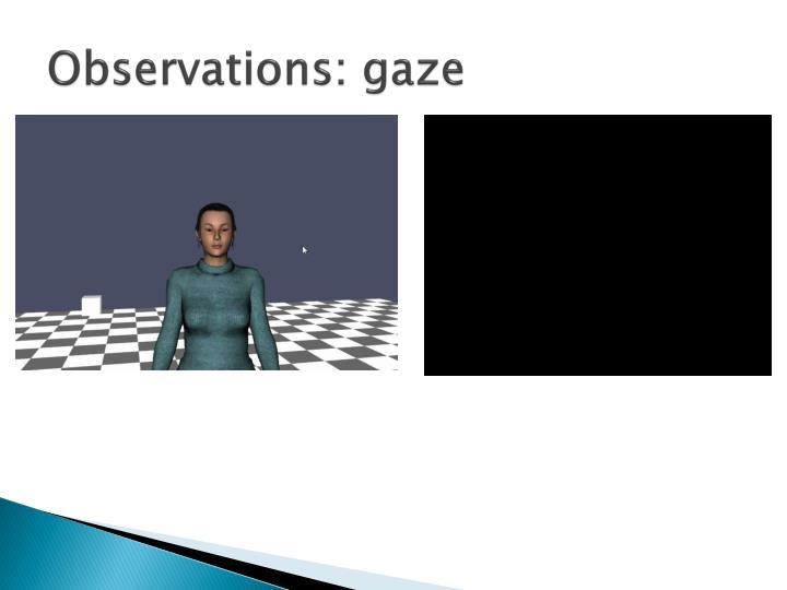 Observations: gaze