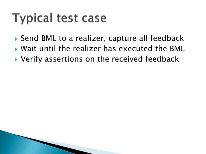 Typical test case