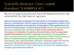 scientific abstract color coded handout example a
