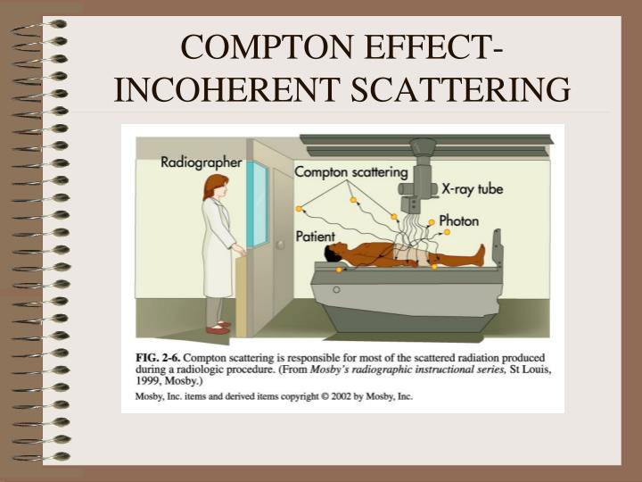 COMPTON EFFECT-INCOHERENT SCATTERING