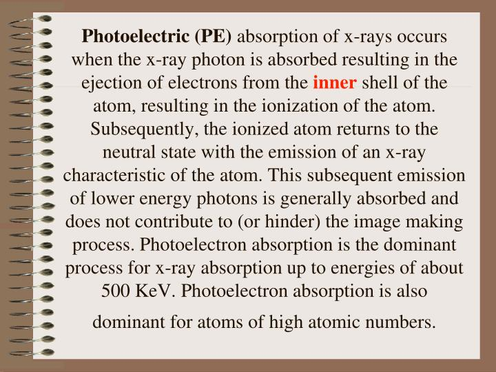 Photoelectric (PE)