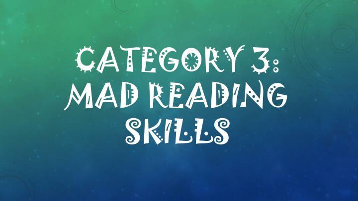 Category 3: