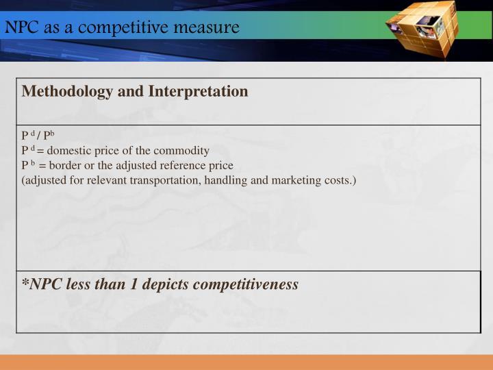 NPC as a competitive measure