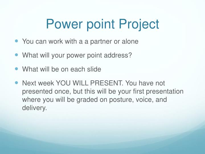 Power point Project