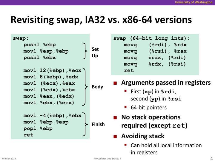 Revisiting swap, IA32 vs. x86-64 versions