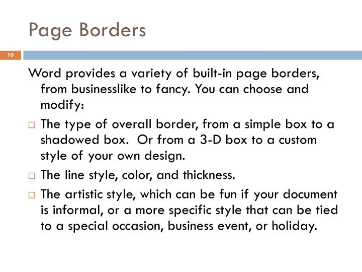 Page Borders