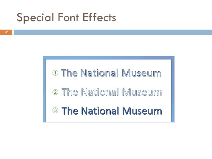 Special Font Effects