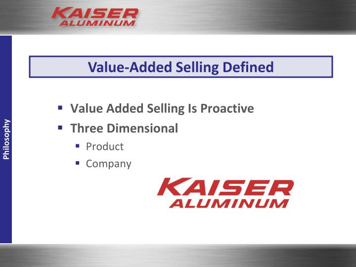 Value-Added Selling Defined