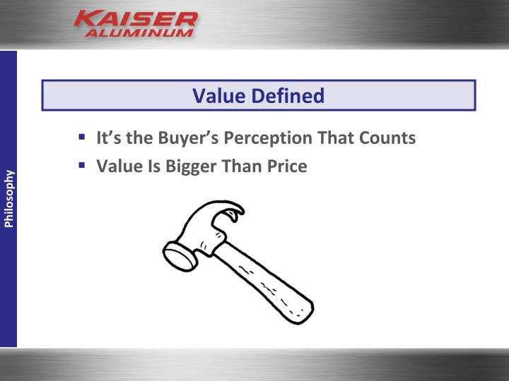 Value Defined