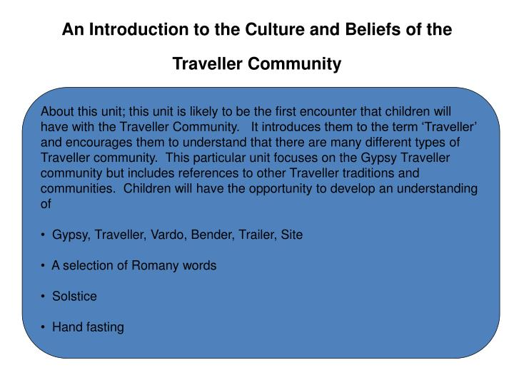 An introduction to the culture and beliefs of the traveller community