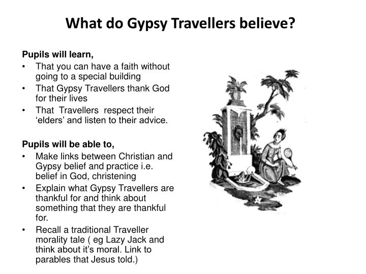 What do Gypsy Travellers believe?