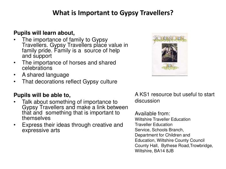 What is Important to Gypsy Travellers?