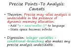precise points to analysis caveats