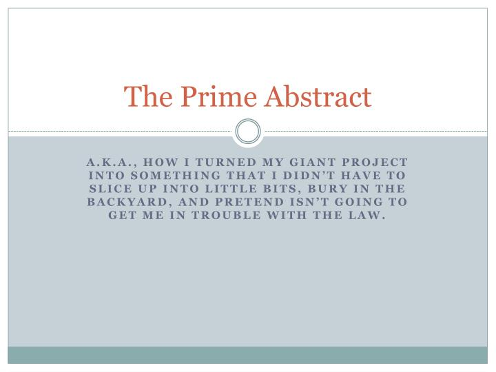 the prime abstract