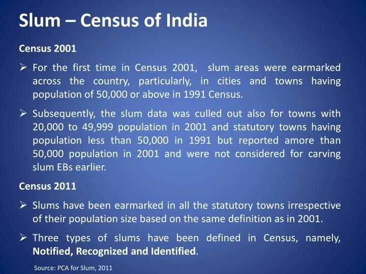 Slum – Census of India
