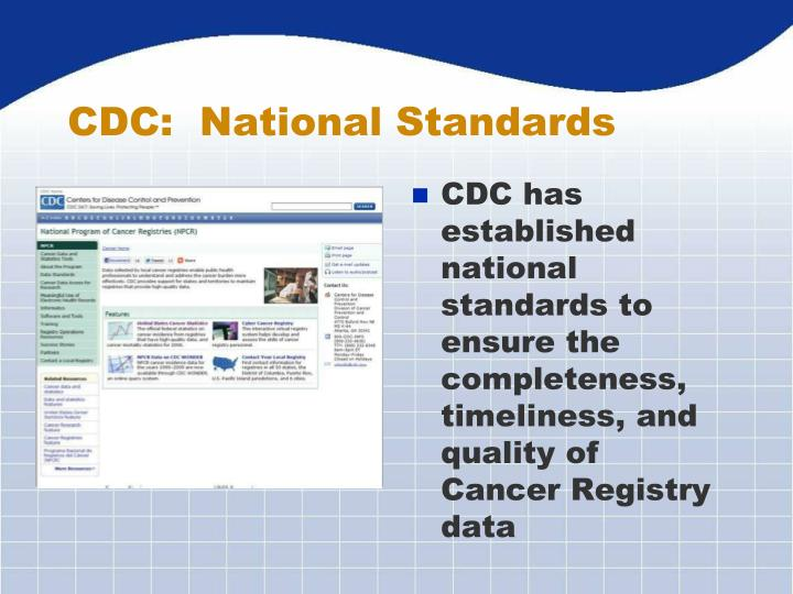 CDC:  National Standards