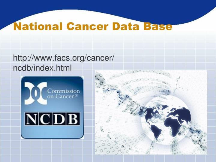 National Cancer Data Base