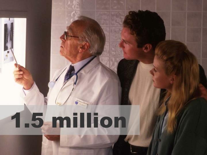 1.5 million