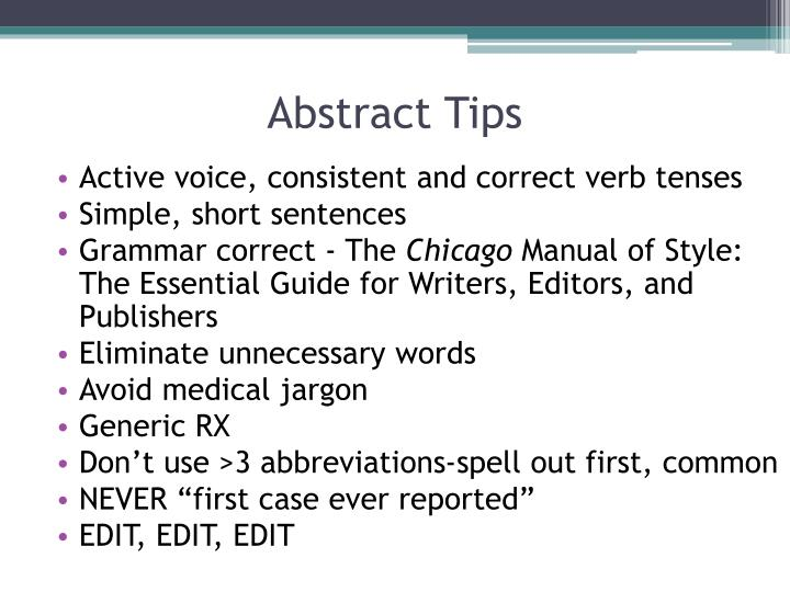 Abstract Tips