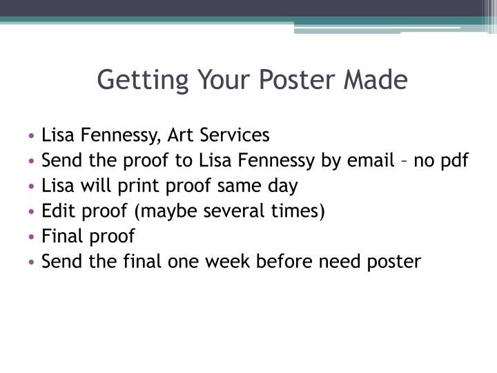 Getting Your Poster Made