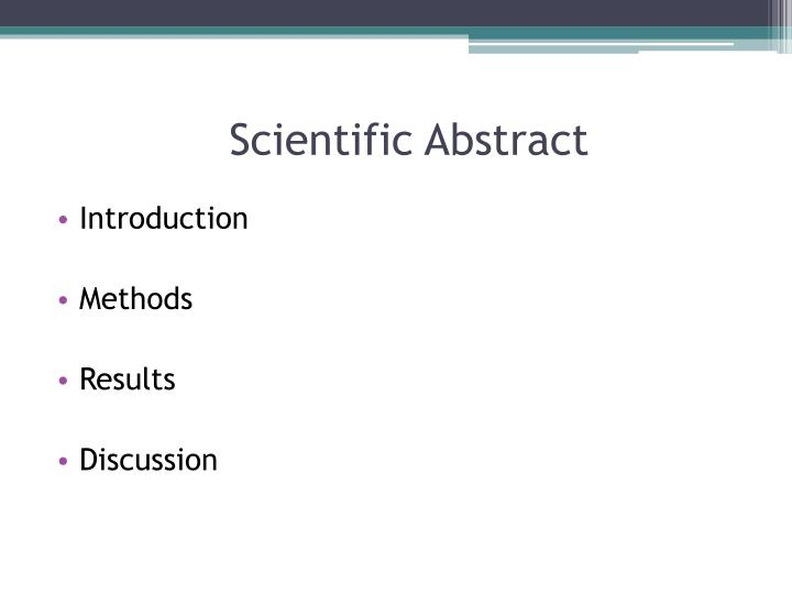 Scientific Abstract