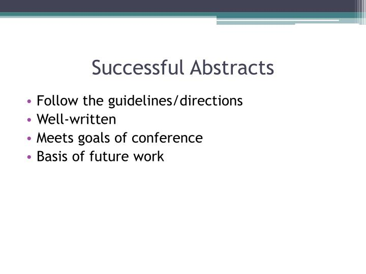 Successful Abstracts