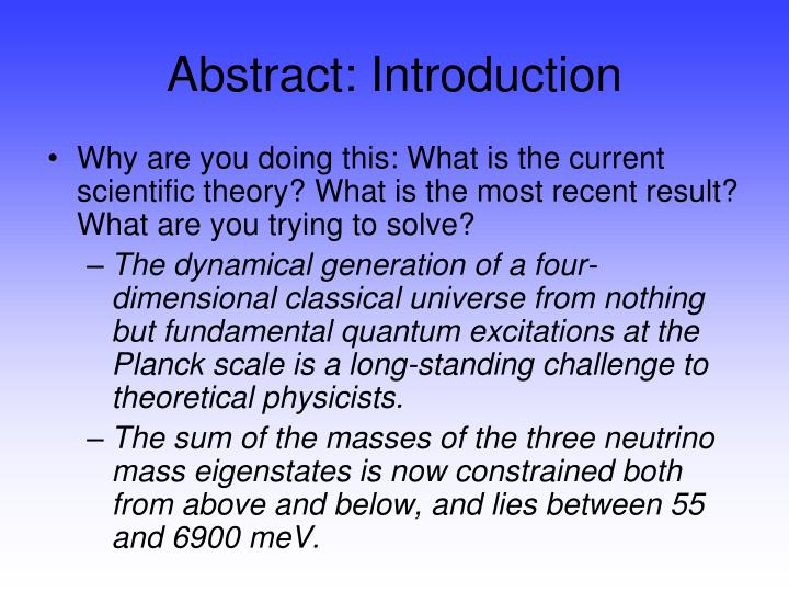 Abstract: Introduction