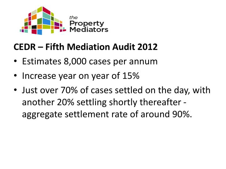 CEDR – Fifth Mediation Audit 2012