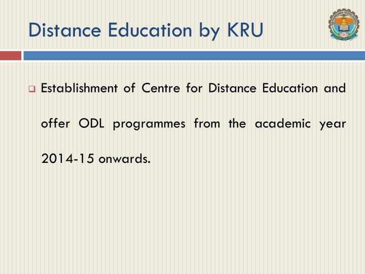 Distance Education by KRU