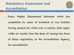 mandatory assessment and accreditation2