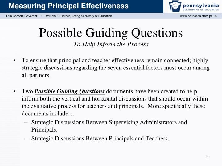 Possible Guiding Questions
