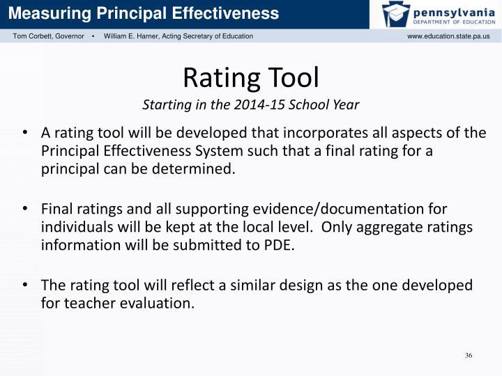 Rating Tool
