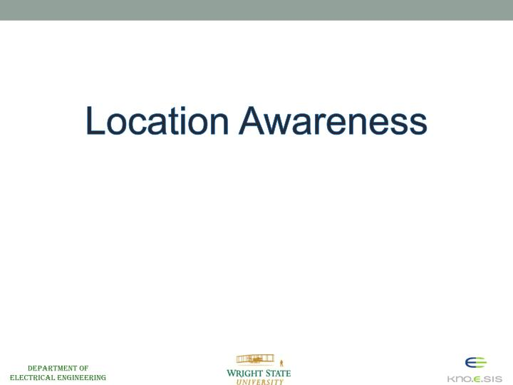 Location Awareness