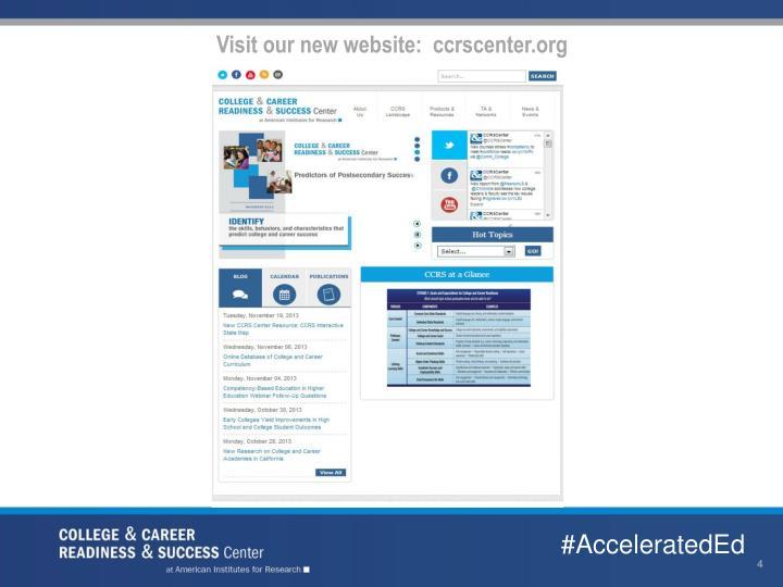 Visit our new website:  ccrscenter.org