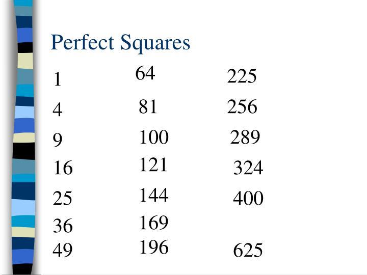 Perfect Squares
