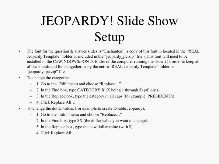 JEOPARDY! Slide Show