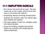 11 1 simplifying radicals