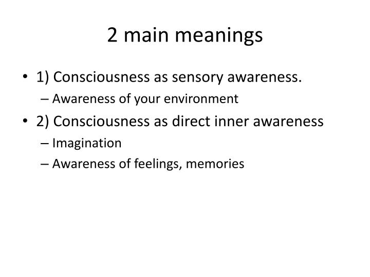 2 main meanings