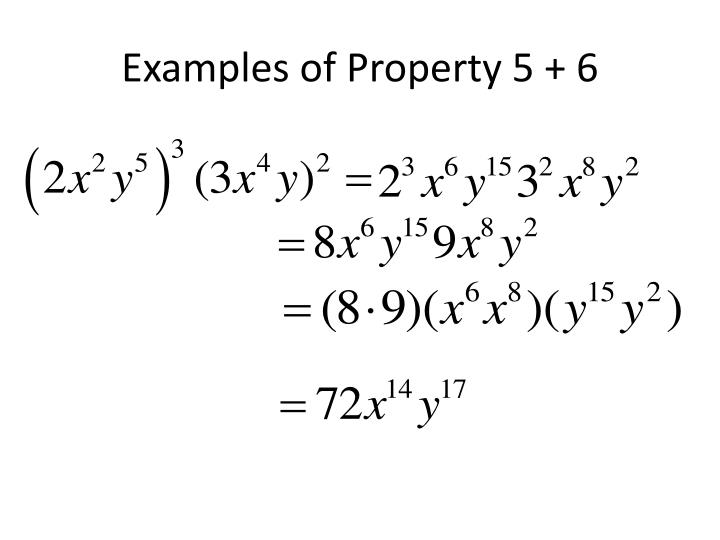 Examples of Property