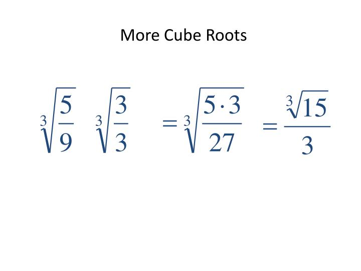 More Cube Roots