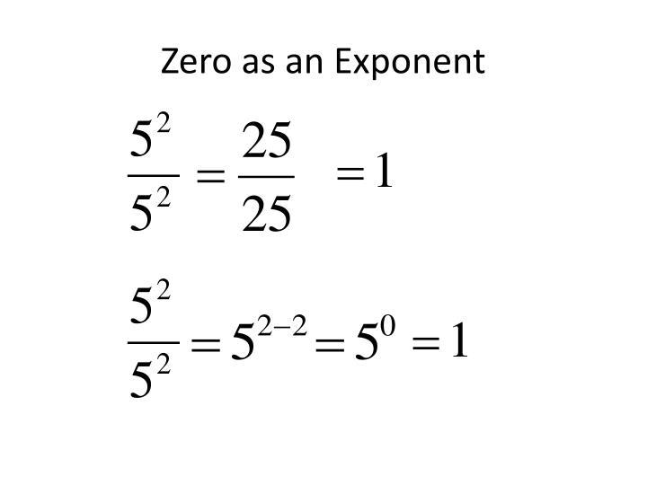 Zero as an Exponent