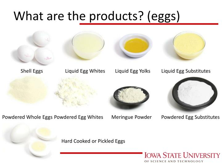 What are the products? (eggs)